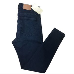 """NWT Madewell 9"""" High Rise Skinny Dark Blue Jeans"""